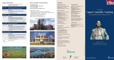 ESM2014 program flyer